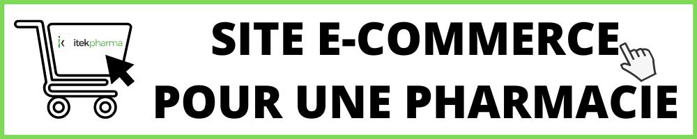 SITE E-COMMERCE POUR UNE PHARMACIE